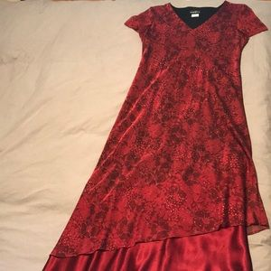 Red Sparkly Evening Dress